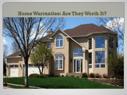 Home Warranties Are They Worth It