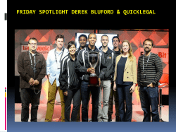 Friday Spotlight Derek Bluford & Quicklegal