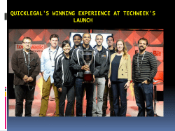 Quicklegal's Winning Experience at Techweek's LAUNCH