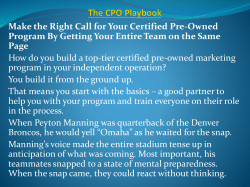 The CPO Playbook