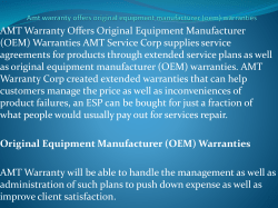 Amt warranty offers original equipment manufacturer (oem) warranties