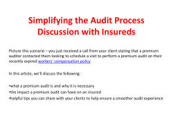 Simplifying the Audit Process Discussion with Insureds