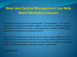 How Loss Control Management Can Help Avoid Workplace Injuries