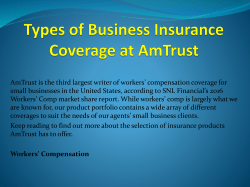Types of Business Insurance Coverage at AmTrust