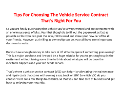 Tips For Choosing The Vehicle Service Contract That's Right For You