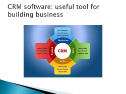 CRM software useful tool for building business