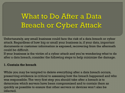 What to Do After a Data Breach or Cyber Attack
