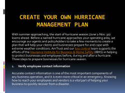 Create Your Own Hurricane Management Plan