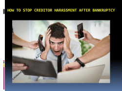 How to Stop Creditor Harassment after Bankruptcy