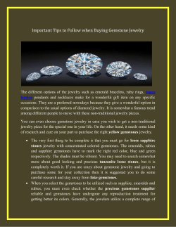 Important Tips to Follow when Buying Gemstone Jewelry