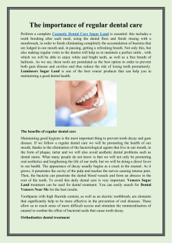 The importance of regular dental care