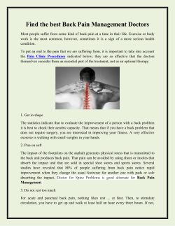 Find the best Back Pain Management Doctors