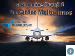 New leading Freight Forwarder Melbourne