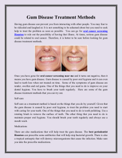 Gum Disease Treatment Methods