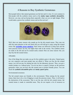 4 Reasons to Buy Synthetic Gemstones