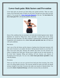 Lower back pain Risk factors and Prevention