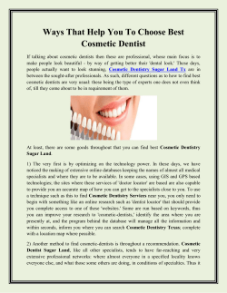 Ways That Help You To Choose Best Cosmetic Dentist