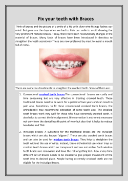 Fix your teeth with Braces