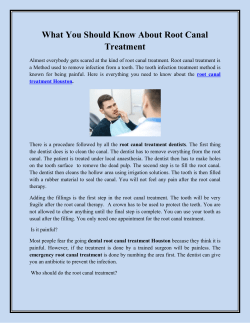 What You Should Know About Root Canal Treatment