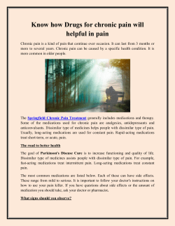 Know how Drugs for chronic pain will helpful in pain