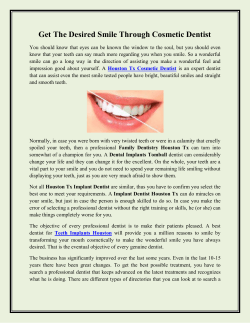Get The Desired Smile Through Cosmetic Dentist