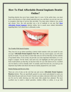 How To Find Affordable Dental Implants Dentist Online