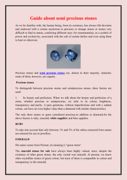 Guide about semi precious stones