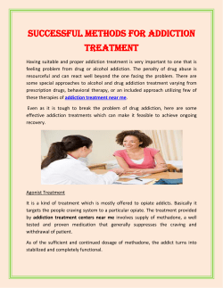 Successful Methods For Addiction Treatment
