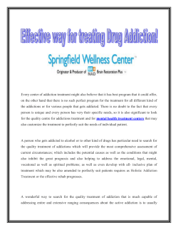 Effective way for treating Drug Addiction