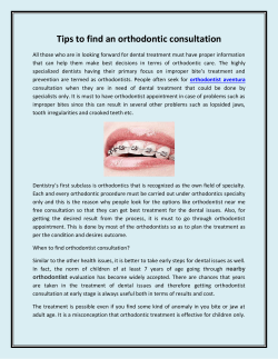 Tips to find an orthodontic consultation
