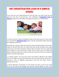 Get Registration Loan in 6 simple steps