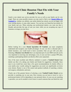 Dental Clinic Houston That Fits with Your Family