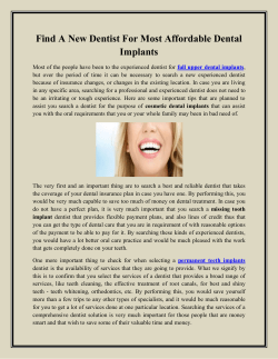Find A New Dentist For Most Affordable Dental Implants