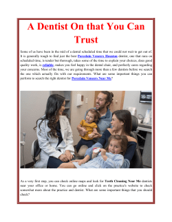 A Dentist On that You Can Trust