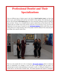 Professional Dentist and Their Specializations