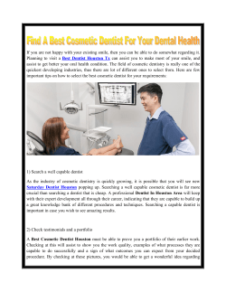 Find A Best Cosmetic Dentist For Your Dental Health