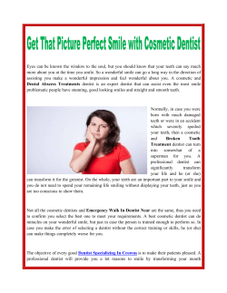 Get That Picture Perfect Smile with Cosmetic Dentist