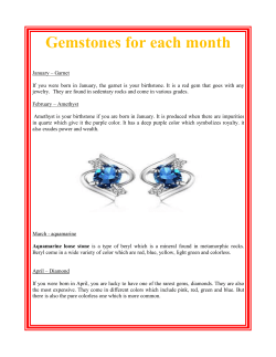 Gemstones for each month