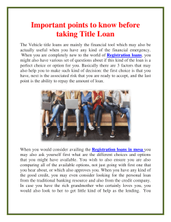 Important points to know before taking Title Loan (1)