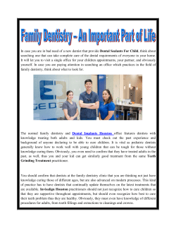 Family Dentistry- An Important Part of Life