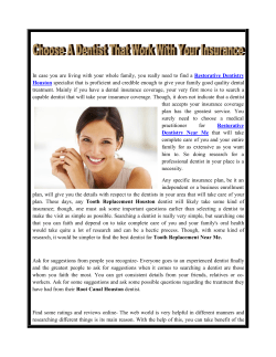 Choose A Dentist That Work With Your Insurance
