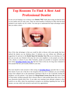 Top Reasons To Find A Best And Professional Dentist