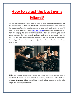 How to select the best gyms Miami