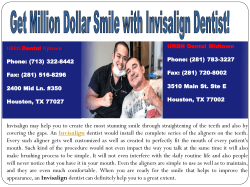 Get Million Dollar Smile with Invisalign Dentist!(1)