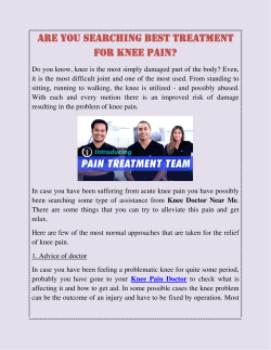 Are You Searching Best Treatment for Knee Pain