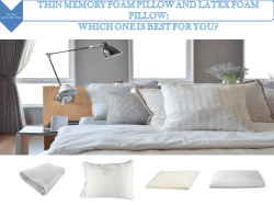 Thin Memory Foam Pillow And Latex Foam Pillow