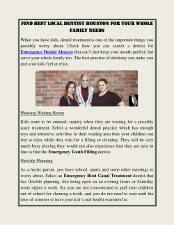 Find Best Local Dentist Houston For Your Whole Family Needs