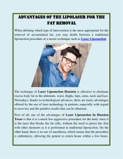 Advantages Of The Lipolaser For The Fat Removal