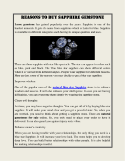 Reasons to Buy Sapphire Gemstone