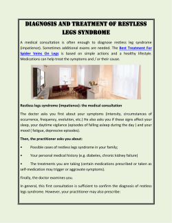 Diagnosis and treatment of restless legs syndrome